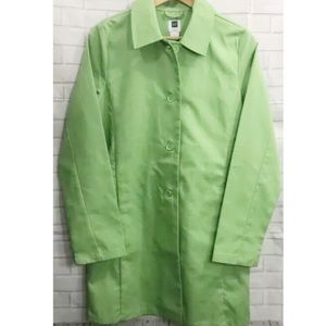 Gap Factory Green Trench Coat